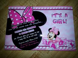 Minnie Invitation Card 21 Baby Minnie Mouse Baby Shower Invitations Sweet Baby Minnie