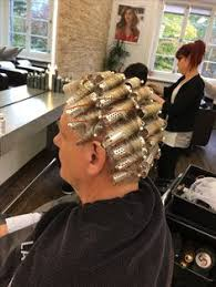 feminization salons for men my dad asked me to roller set his hair in curlers he s elegant and