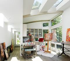 contemporary art studio home office contemporary with workshop
