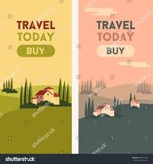 Travel Theme Vector Flat Material Web Banner European Stock Vector 428214289