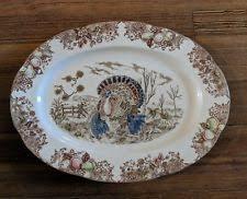 ceramic turkey platter turkey platter ebay