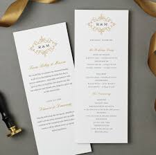 tea length wedding program template flat wedding program template instant ornate flat