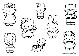 kitty coloring pages featuring father mother bebo pandco