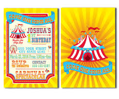 bright colors carnival invitations circus invitations metro