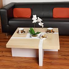 Wohnzimmertisch Uhr Couchtisch Beistelltisch Wohnzimmertisch Tisch Designertisch Weiß