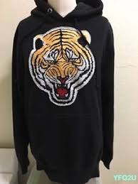 undefeated small black lg tiger patch front pullover hoodie sold