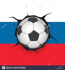 Russian Flag Colors Soccer Ball And Russian Flag Stock Vector Art U0026 Illustration