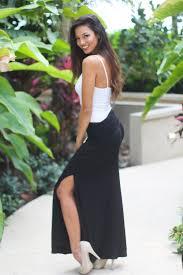 black maxi skirt with slit black maxi skirt black skirt black skirt saved by the dress