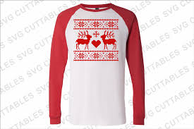 reindeer christmas sweater by svg cuttables thehungryjpeg com