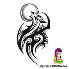 small tribal wolf howling with design sle t