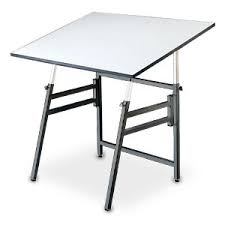 Foldable Drafting Table Professional Drafting Classroom Table Black Base 30 X 42 Top