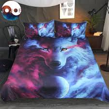 Wolf Bed Sets Wolf 3d Duvet Cover With Pillowcases Wolf Eye Bed Set 3pcs