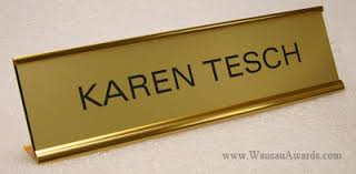 gold name tag desk door name plates