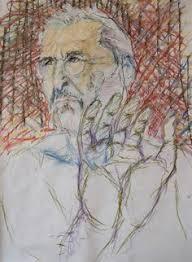 portrait ii oil pastel u0026 charcoal on paper 12 5