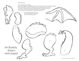 mnm dragon stick puppet kid sheet u2013 mixedupalot