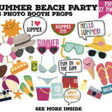 printable photo booth props summer summer beach party photo booth props set from geekygadget on etsy