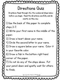 all worksheets following directions worksheets for second grade