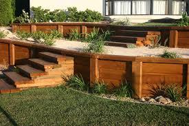 Backyard Retaining Wall Ideas Trendy Ideas Timber Retaining Wall Designs Domestic Landscaping
