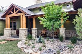 Ranch House Front Porch by Front Porch With Seating Area And Garden Structural Wood Beams