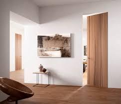 Flush Interior Door by Interior Door Swing Wooden Flush Exitlyne Zero Noce