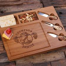 personalized cheese board personalised bread and cheese board with utensils createyour gift
