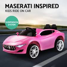 maserati pink kid ride on car maserati inspired battery electric toy children