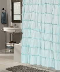 Turquoise Ruffle Curtains Voile Shower Curtain Foter