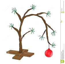 browns tree brown christmas tree royalty free stock with