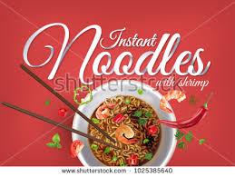 instant cuisine instant cup noodles shrimps paper เวกเตอร สต อก 1025385640