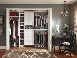 Space Saving Closet Doors Tips For Organizing A Small Reach In Closet Hgtv S Decorating