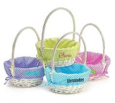 personalized wicker easter baskets personalized kids easter basket white willow wicker gingham