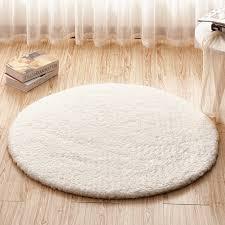 tidetex white round livingroom carpet bedroom rugs simple solid