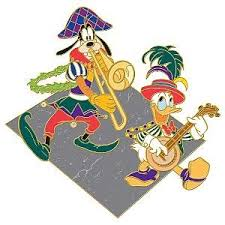 mardi gras pins donald duck and goofy mardi gras series pin from our pins