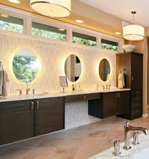 backlit bathroom mirror contemporary with chic freestanding