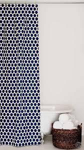 extra long navy blue ikat cotton fabric shower curtain size option s 72