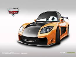 cars characters yellow disney cars mazda rx7 veilside by yasiddesign on deviantart