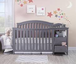Grey Convertible Cribs Sorelle Berkley 4 In 1 Convertible Crib And Changer Grey