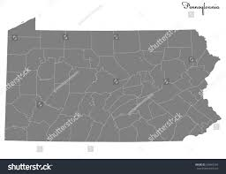 Map Of U High Quality Map Us State Pennsylvania Stock Vector 638465359