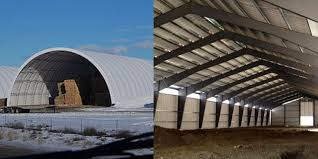 Dome Barn A Beginner U0027s Guide Steel Buildings Vs Fabric Buildings