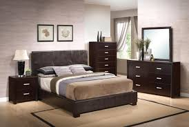 Low Profile Furniture by Coaster Andreas Vinyl Upholstered Low Profile Bedroom Set