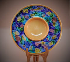 painted platters iridescent painted platters by thedane lumberjocks