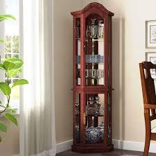 how to arrange a corner china cabinet clayborne floor standing 5 sided lighted corner