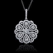 white gold flower necklace images 1 69ct diamond 18k white gold flower pendant white gold jpg