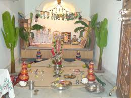 Diwali Decoration Tips And Ideas For Home Home Mandir Decoration Easy Home Made Ganapati Decoration Home