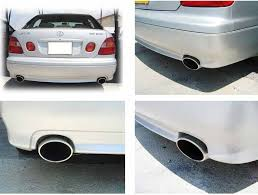 lexus gs300 exhaust exhaust tips universal oval tailpipe trims for saab lexus is250