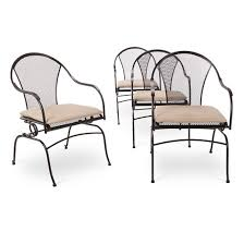 Iron Patio Furniture by Hamlake 4 Piece Wrought Iron Patio Motion Dining Chair Set Target