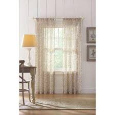 Window Sheer Curtains Sheer Curtains Drapes Window Treatments The Home Depot