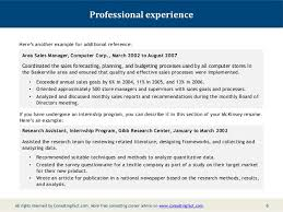 Resume Samples For Experienced It Professionals by Mckinsey Resume Sample