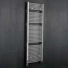 Designer Kitchen Radiators Chrome Bathroom Curved Heated Towel Radiator Rack 71