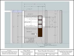 Powder Room Floor Plans by Powder Room Amanda Hart